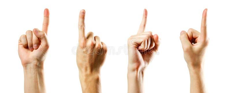изолированная рука перста предпосылки указывающ белизна белизна изолированная предпосылкой стоковое изображение rf