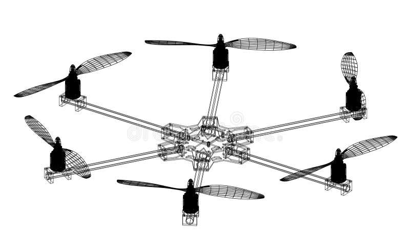 Изолированная светокопия архитектора трутня - бесплатная иллюстрация