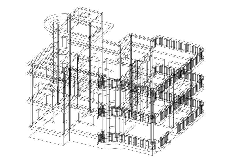 Изолированная светокопия дизайна архитектора дома - бесплатная иллюстрация