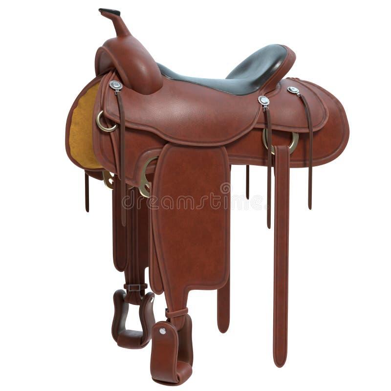 Изолированная седловина лошади бесплатная иллюстрация