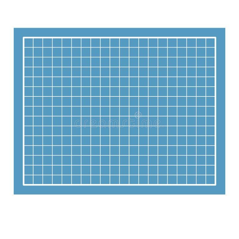Изолированная синь бумаги светокопий Предпосылка чертежа Illu вектора бесплатная иллюстрация