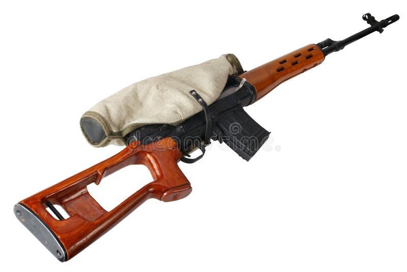 Изолированная снайперская винтовка SVD стоковые фотографии rf
