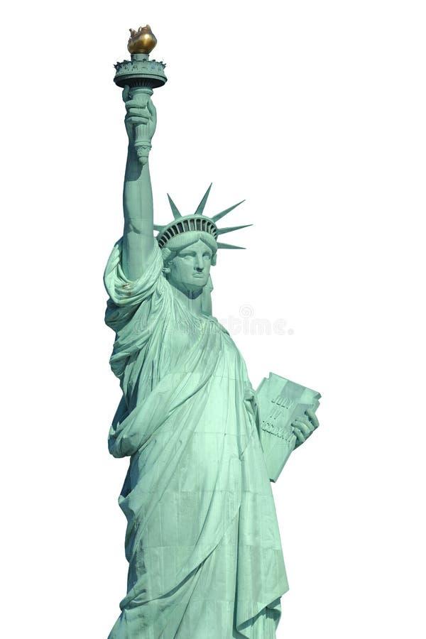 Изолированная статуя вольности стоковые изображения