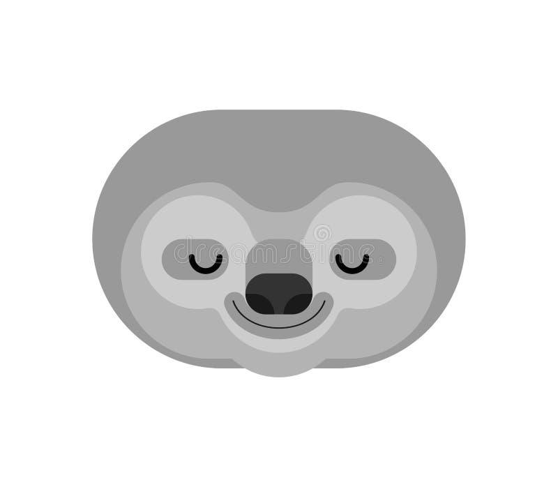 Изолированная сторона лени мультфильм lazybones животный вектор иллюстрация штока