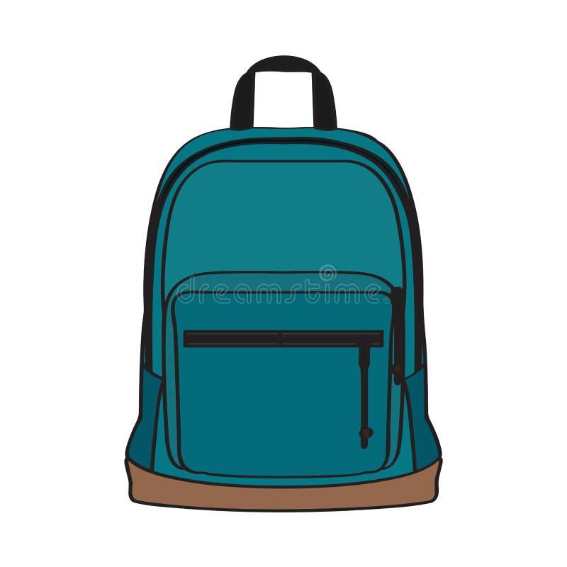 Изолированная сумка школы иллюстрация вектора