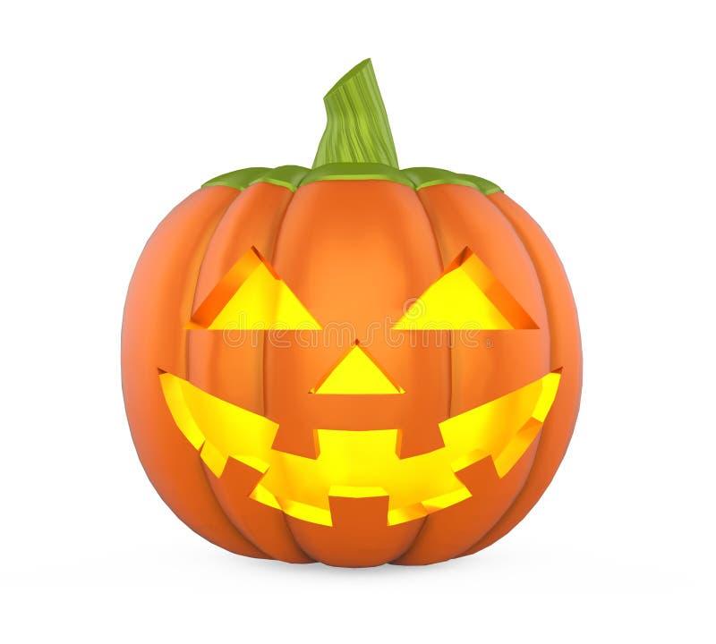 Изолированная тыква хеллоуина фонарика Джека o иллюстрация штока