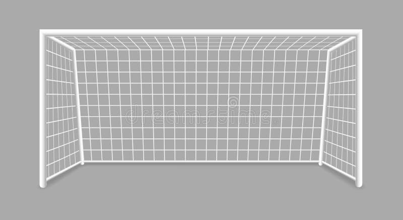 Изолированная цель футбола бесплатная иллюстрация