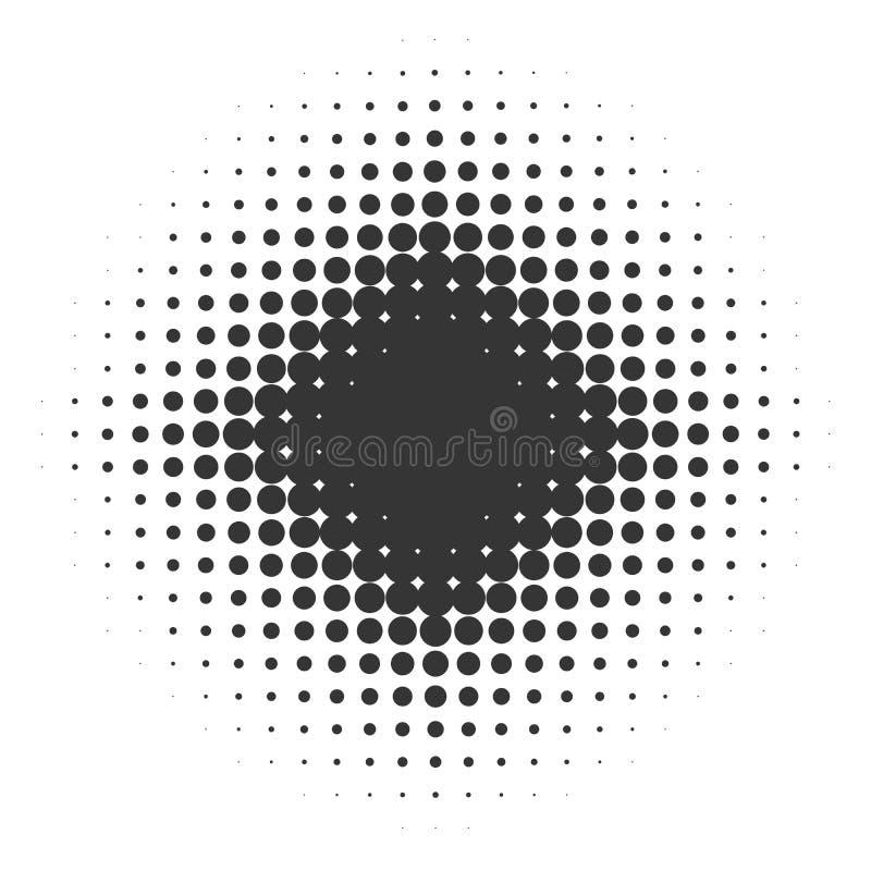 Изолированная черная звезда с точками градиента иллюстрация штока