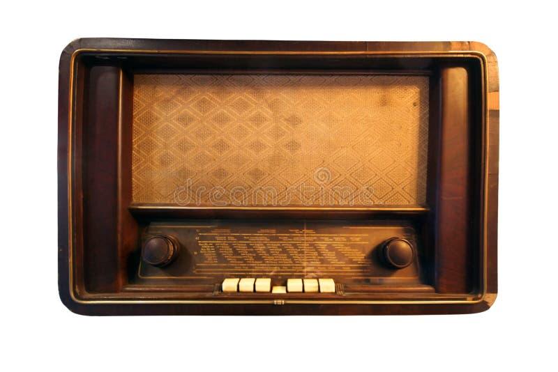 Изолированное античное радио радио, года сбора винограда и прямоугольника стоковое изображение rf