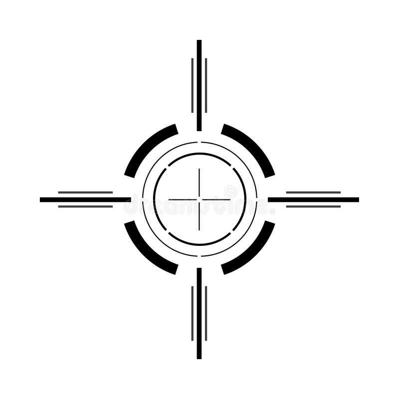 Изолированное визирование пушки иллюстрация вектора