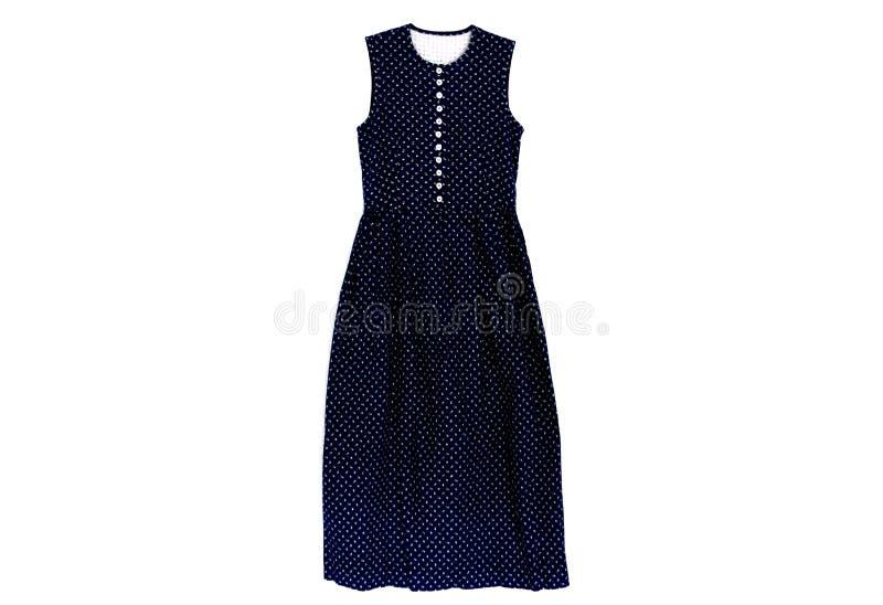 Изолированное винтажное платье на белой предпосылке стоковая фотография rf