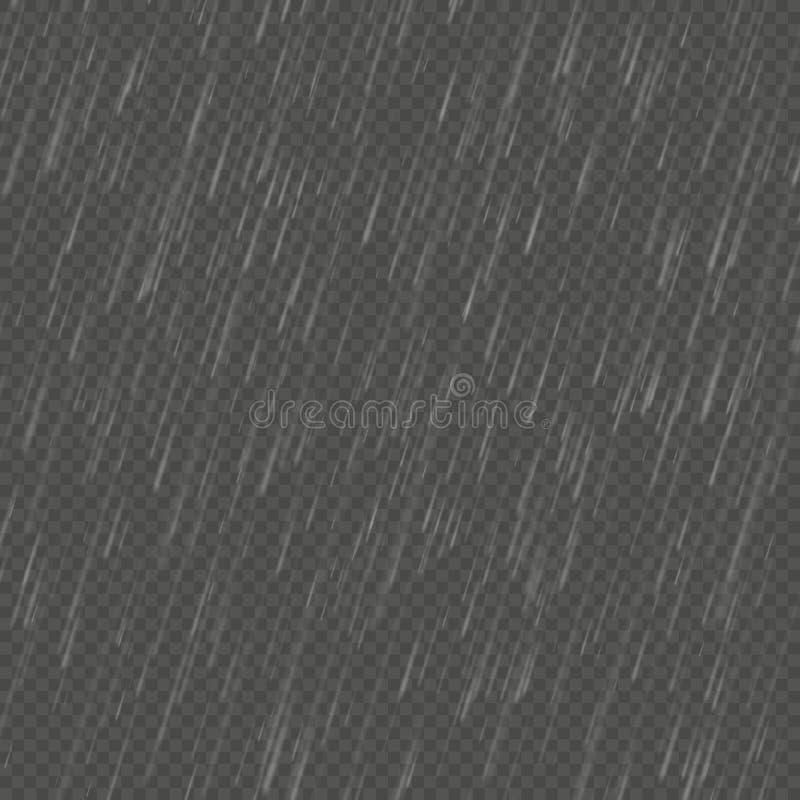 Изолированное дождем реалистическое влияние anglewise Прозрачный шаблон осадок природы 10 eps иллюстрация штока