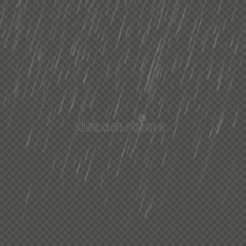 Изолированное дождем реалистическое влияние anglewise Прозрачный шаблон осадок природы 10 eps бесплатная иллюстрация