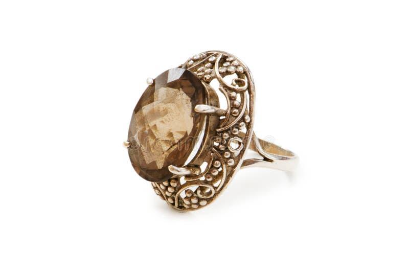 изолированное драгоценное кольцо стоковое изображение