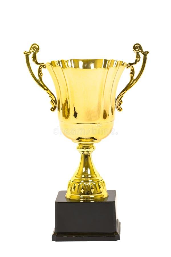 изолированное золото чашки стоковое изображение rf