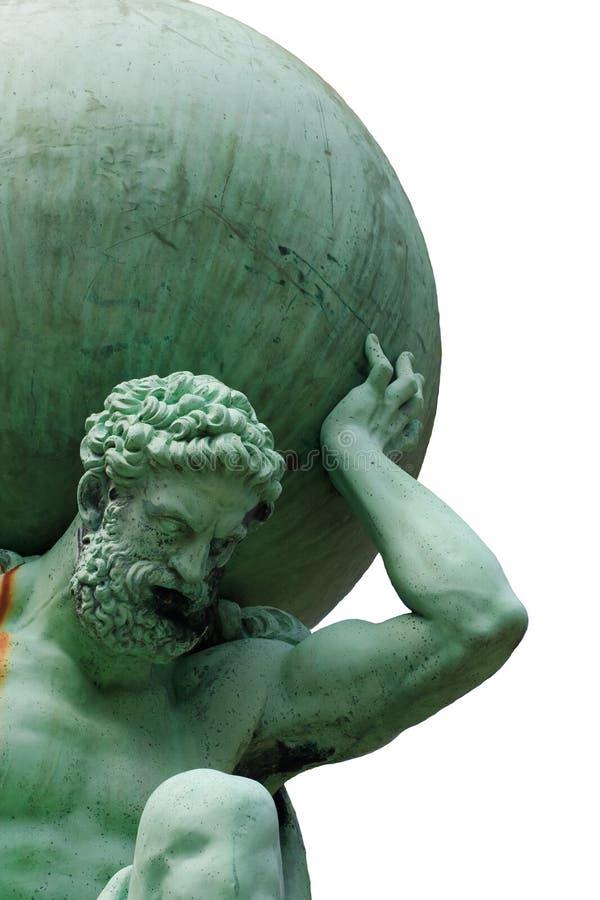 Изолированное изображение атласа бога стоковое изображение rf