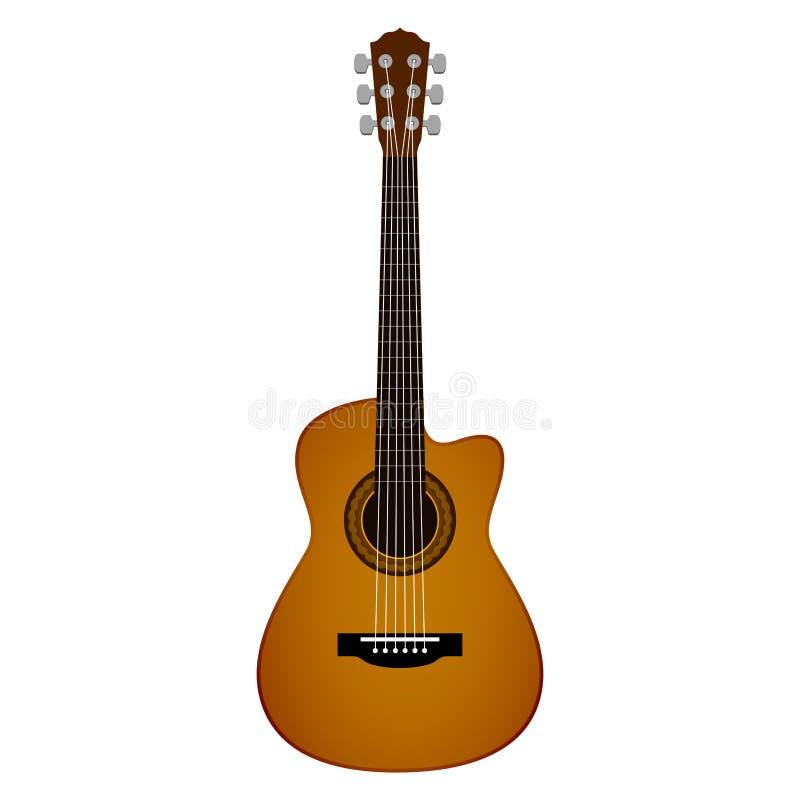 Изолированное изображение гитары иллюстрация штока