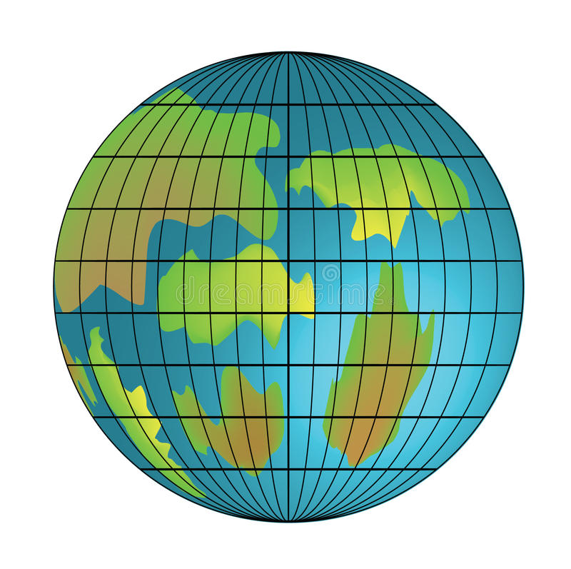 изолированное изображение глобуса иллюстрация вектора