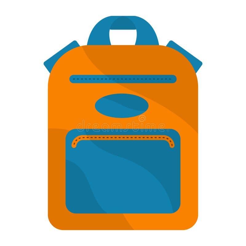 Изолированное изображение сумки школы иллюстрация вектора