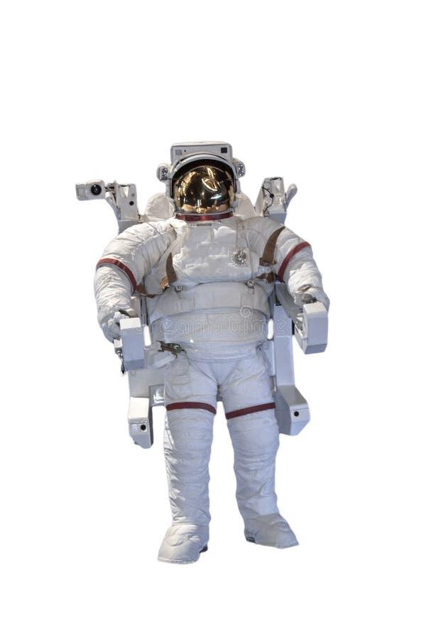 Изолированное летание астронавта в космосе Элементы этого изображения обеспечили NASA f стоковые фото