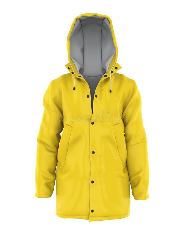 Изолированное пальто дождя иллюстрация штока