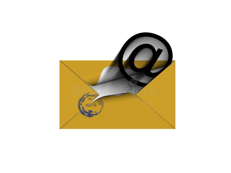 изолированное письмо к белизне вы