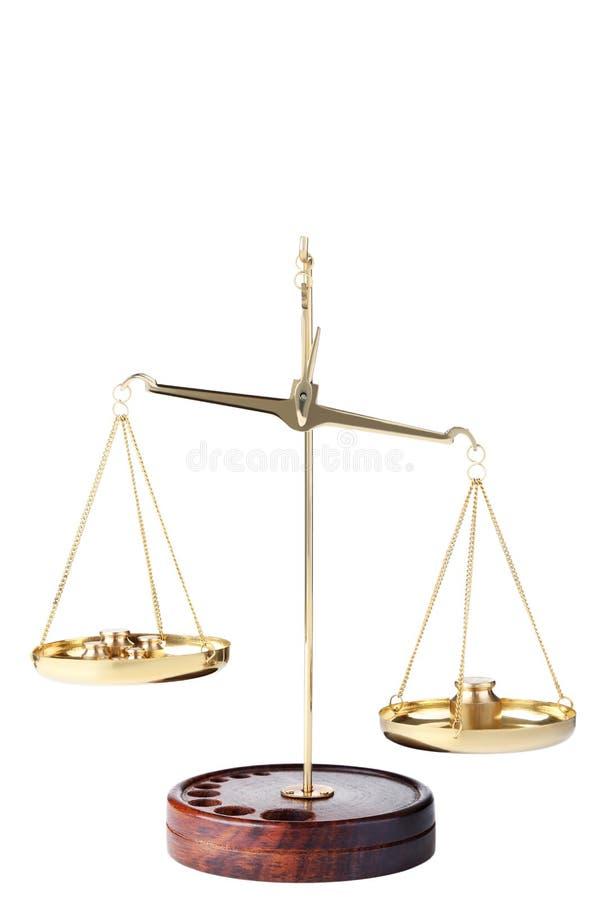 изолированное правосудие над маштабами белыми стоковое изображение
