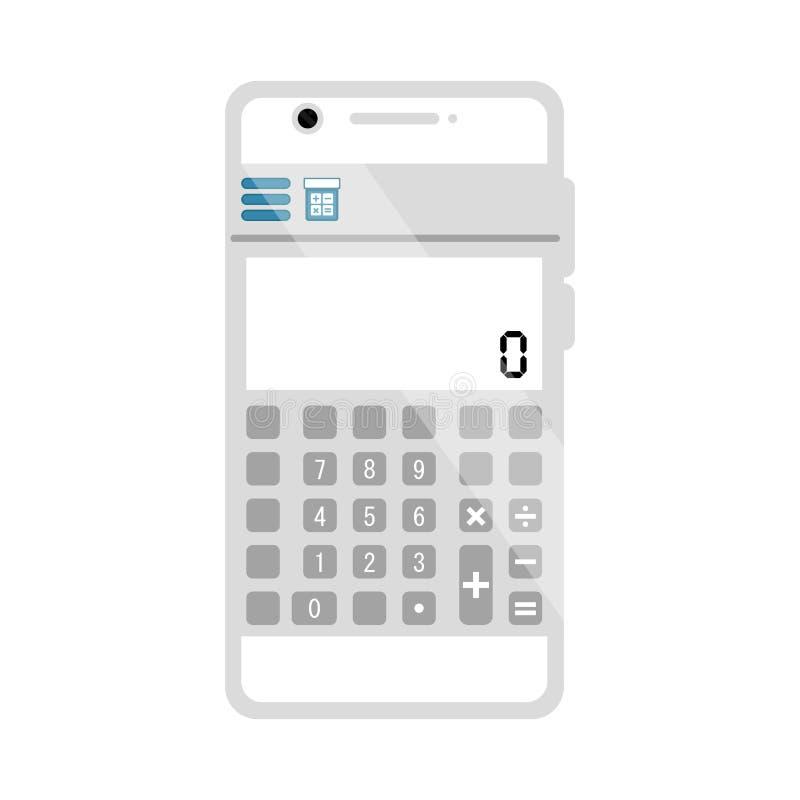 Изолированное приложение калькулятора мобильное бесплатная иллюстрация