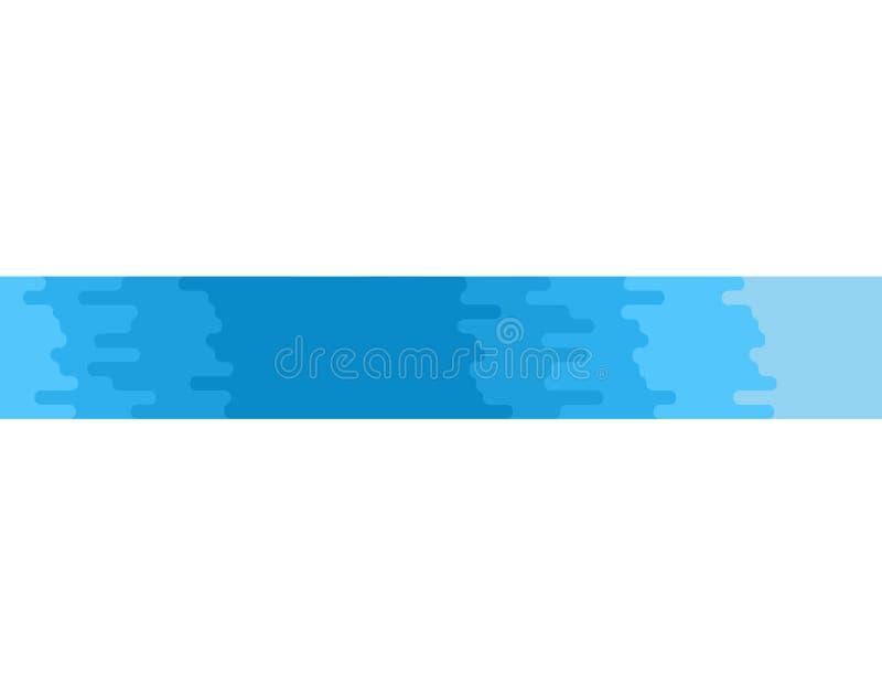 Изолированное река Голубой поток чистой воды на белой предпосылке Vect иллюстрация штока