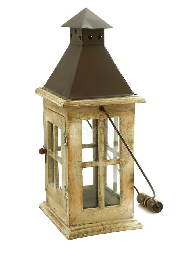 изолированное свечкой деревянное светильника старое белое стоковые фото