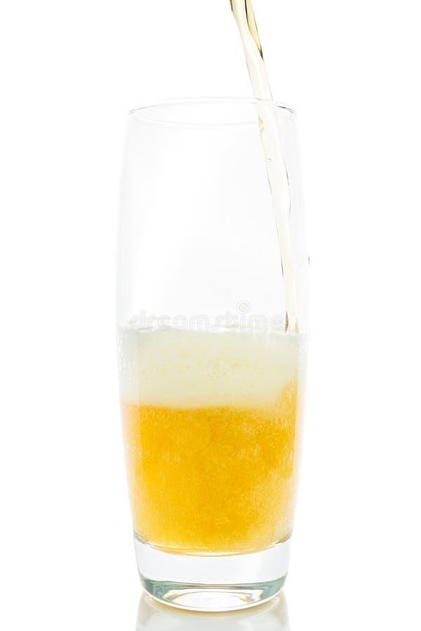 Изолированное стекло пива стоковое изображение rf