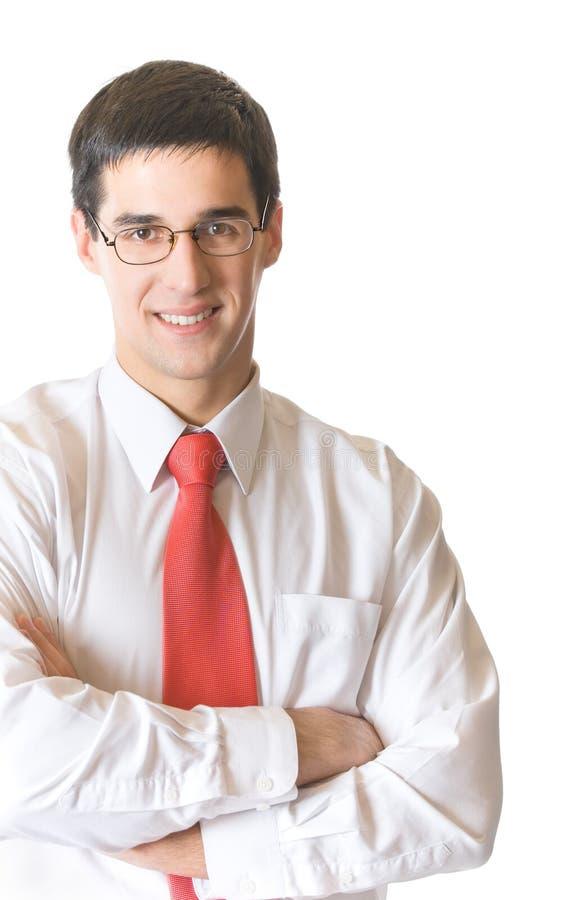 изолированное счастливое бизнесмена стоковые изображения