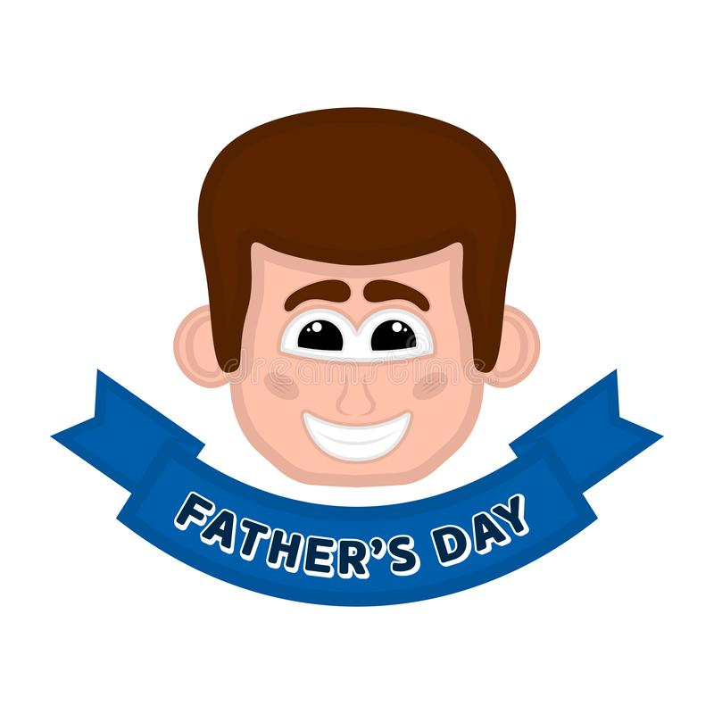 Изолированное счастливое воплощение человека День отца бесплатная иллюстрация