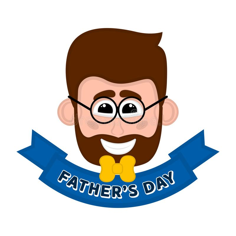 Изолированное счастливое воплощение человека День отца иллюстрация штока