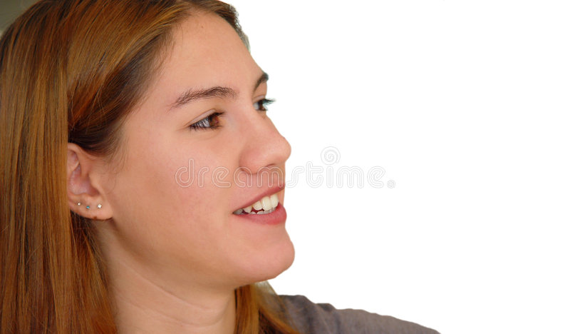 изолированное счастливое девушки стоковая фотография