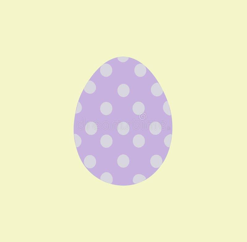 Изолированное фиолетовое пасхальное яйцо с белыми кругами также вектор иллюстрации притяжки corel стоковая фотография