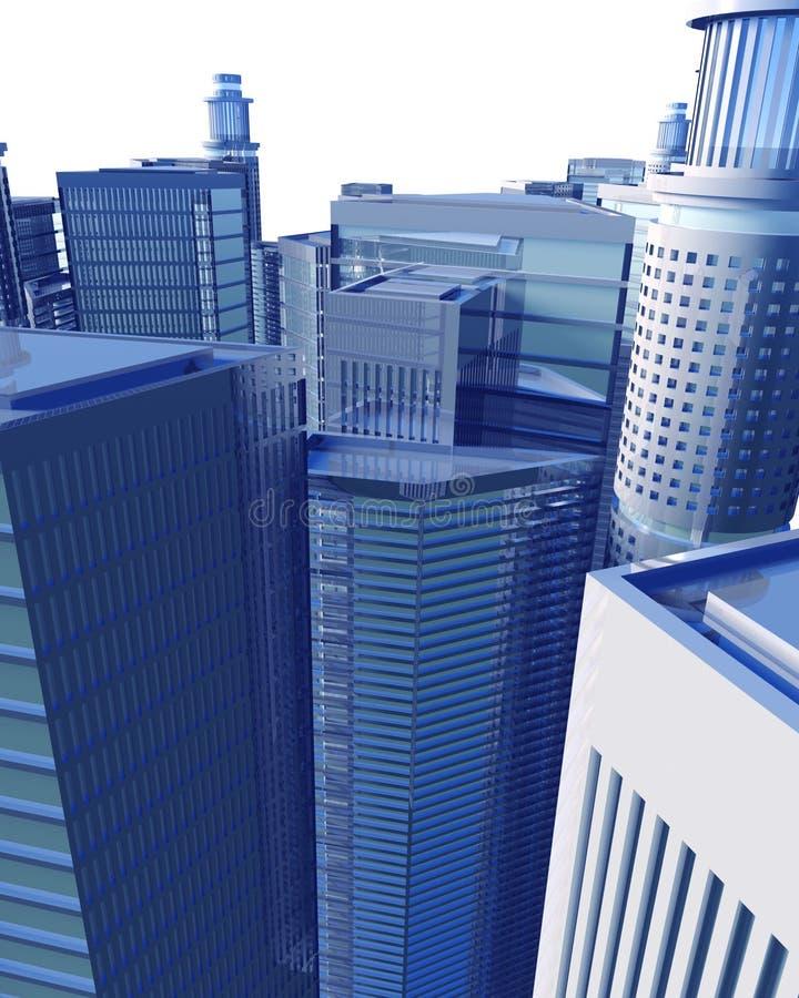 изолированное цифровое городского пейзажа бесплатная иллюстрация