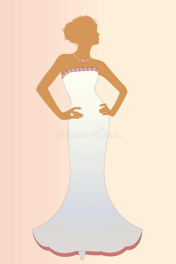 изолированное шикарное невесты иллюстрация штока