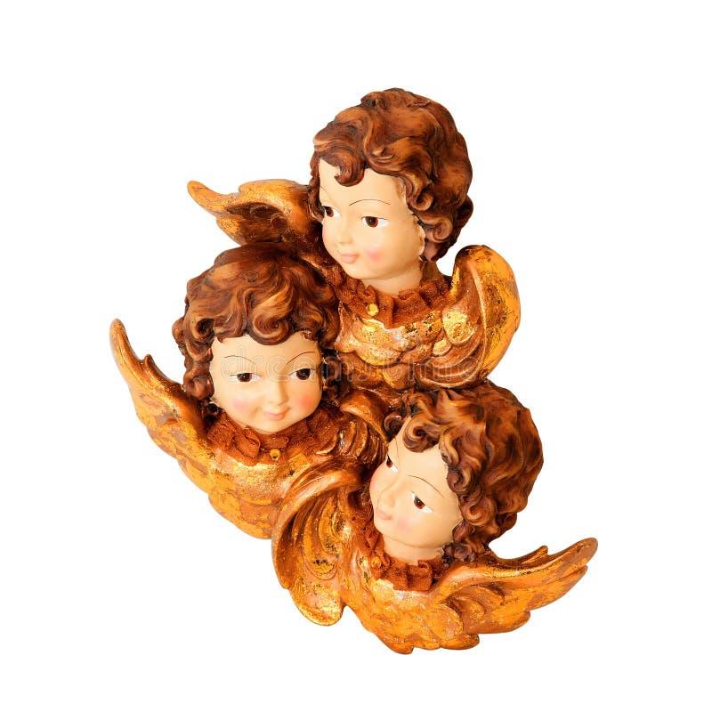 изолированные ангелы стоковая фотография rf