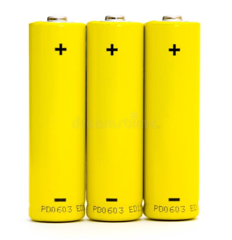 изолированные батареи стоковая фотография