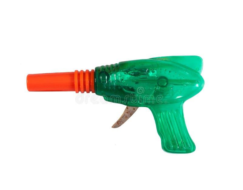 Изолированные белые raygun/игрушка raygun: винтажная игрушка стоковое изображение