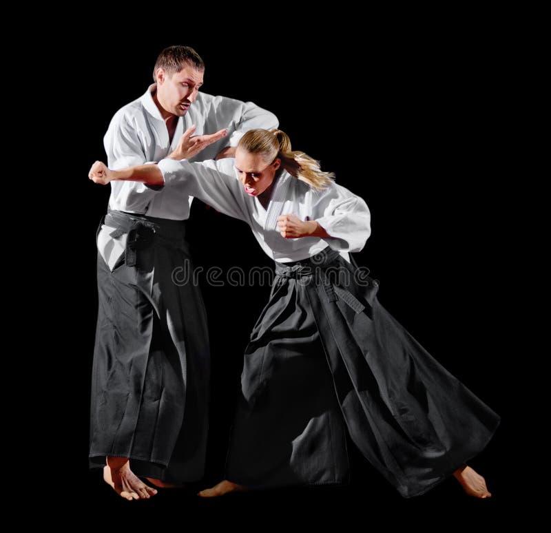 Изолированные бойцы боевых искусств стоковые фото