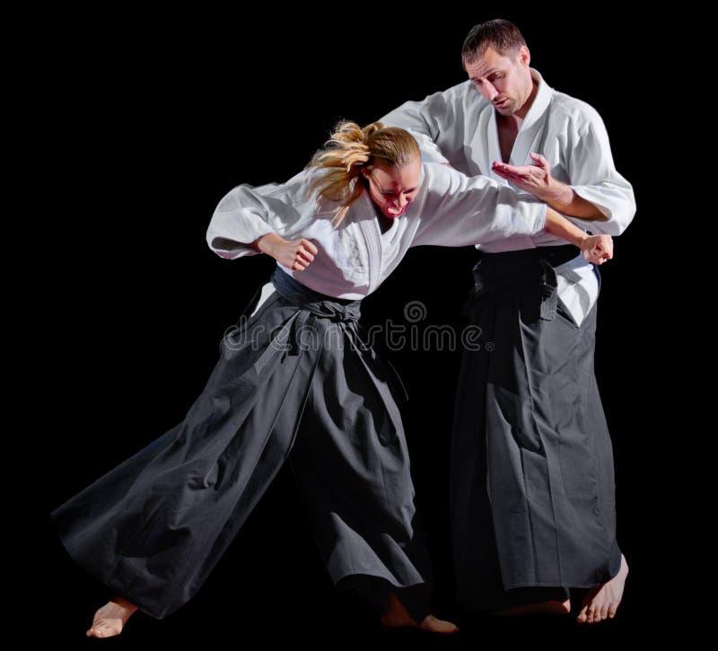 Изолированные бойцы боевых искусств стоковая фотография rf