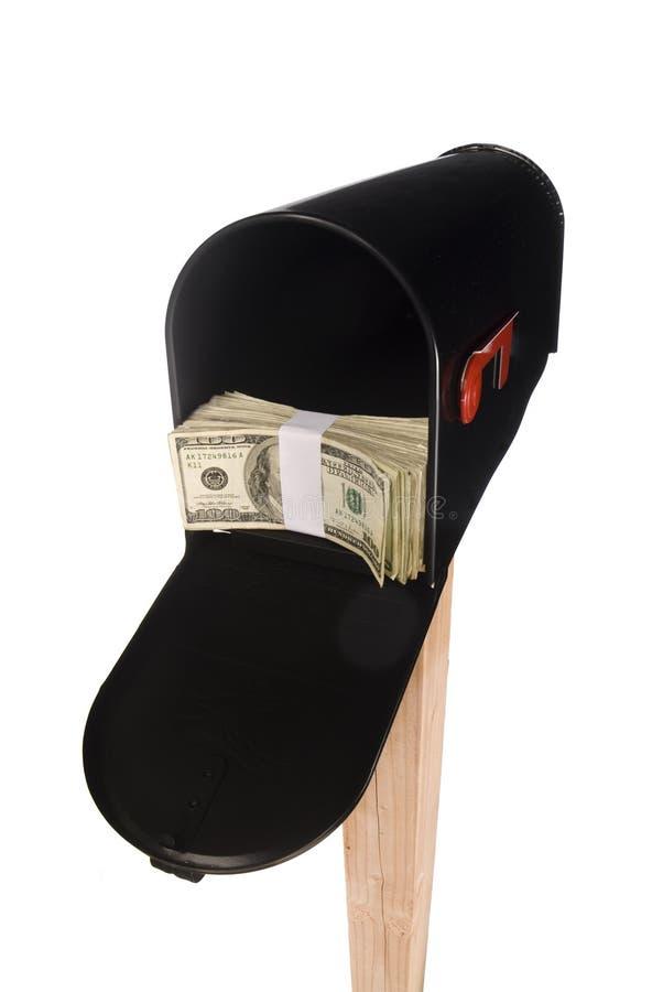 изолированные деньги почтового ящика стоковое фото