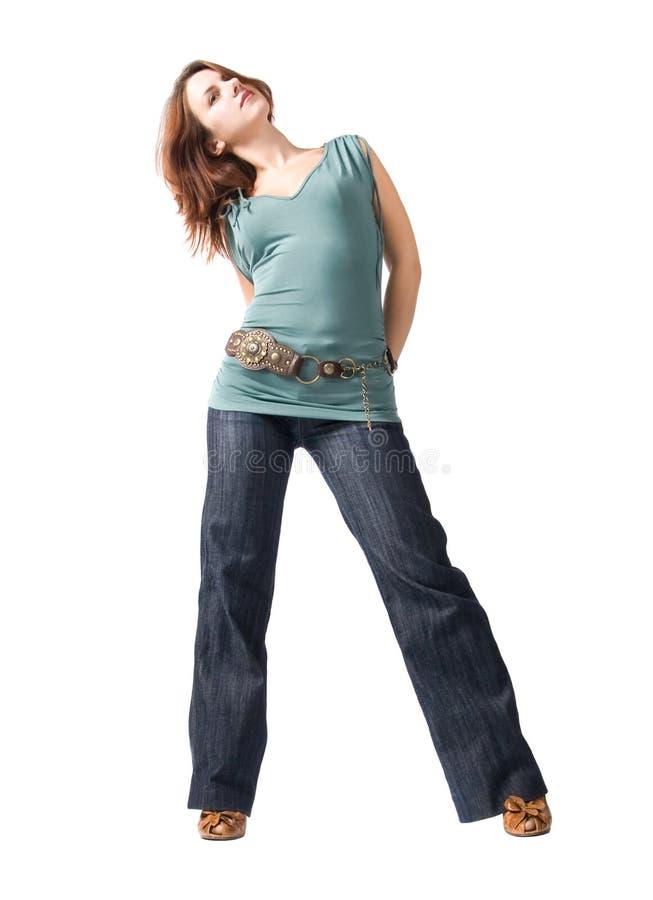 изолированные детеныши белой женщины стоковые фотографии rf