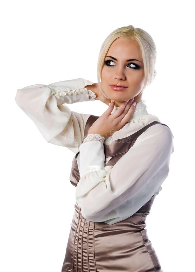 изолированные женщины портрета молодые стоковое изображение rf