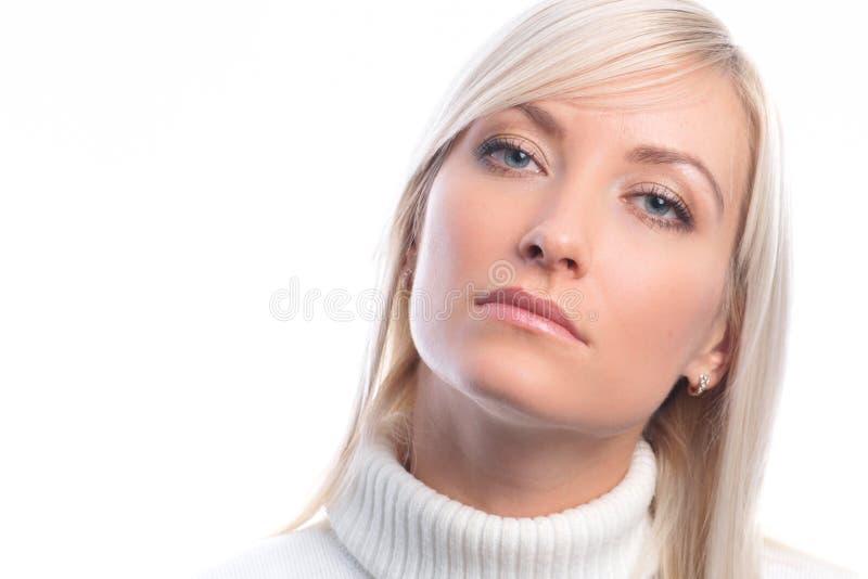 изолированные женщины portret молодые стоковая фотография