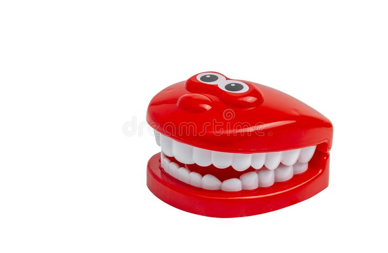 Изолированные зубы игрушки стоковые фотографии rf
