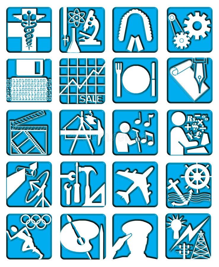 изолированные иконы карьеры иллюстрация штока