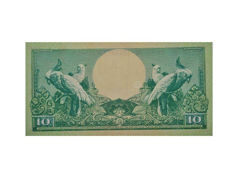 Изолированные индонезийские банкноты Индонезийская валюта стоковое изображение
